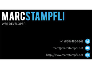 Marc Stampfli Business Card