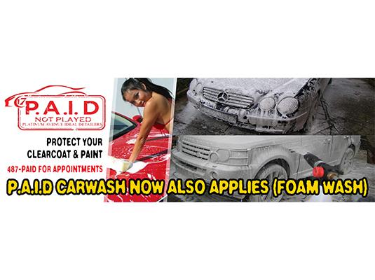 PAID Carwash Banner