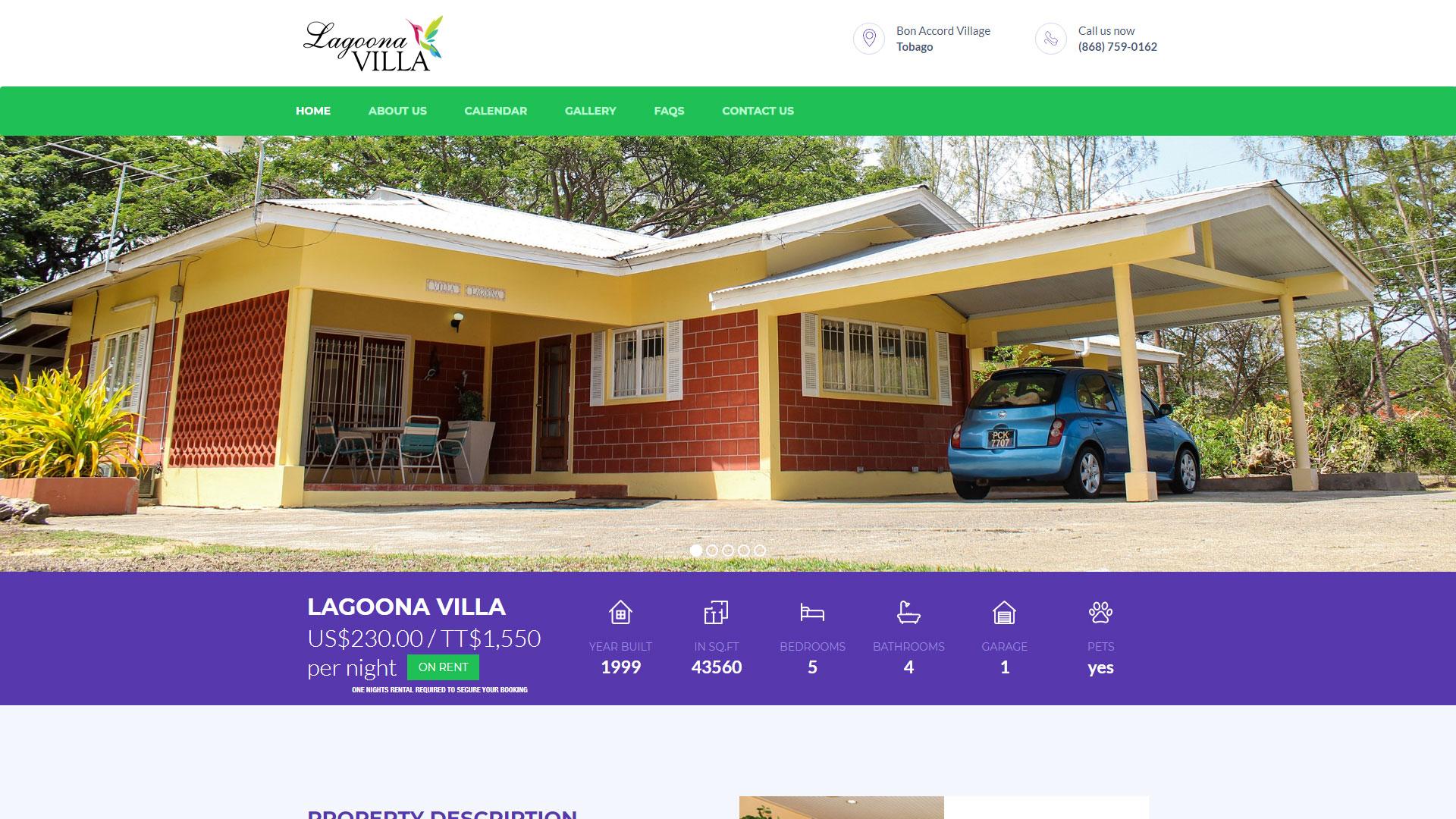 Lagoona Villa Website