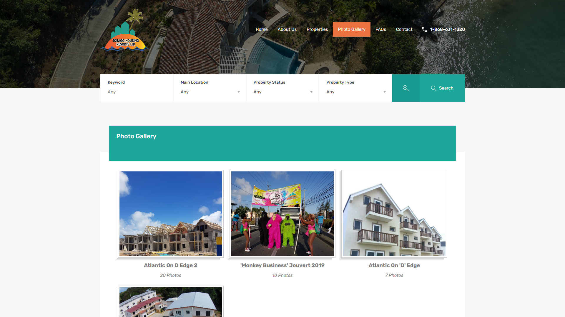 Tobago Housing Resorts Website